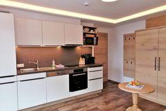 Wohnküche im Apartment Almrose
