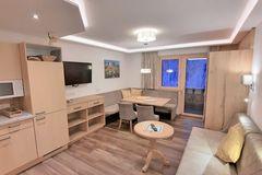 Wohnzimmer im Apartment Edelweiss