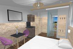 Visualisierung Doppelzimmers