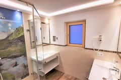 Badezimmer im Apartment Almrose